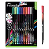 BIC Intensity Fineliner Marker Pen, Fine Point (0.4 mm), Assorted Colors, 10-Count, Model Number: FPINFAP10