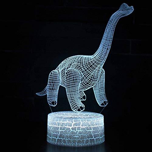 IANSISI Luz de Noche LED de Dinosaurio 3D para niños, Control Remoto y táctil, lámpara de Escritorio de Mesa LED con Cambio de Color 7/16, cumpleaños para niños, decoración del hogar