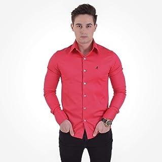 Camisa Social Masculina Cereja Super Slim 200106
