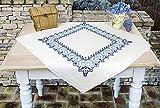 Kamaca - Set da ricamo a punto croce, tovaglia di cotone con motivo ornamentale con guida