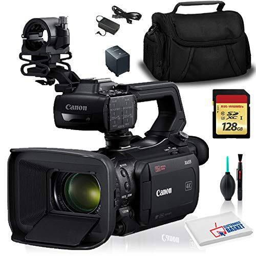 For Sale! Canon XA55 PAL Professional UHD 4K Camcorder (Intl Model) with Case and 128GB