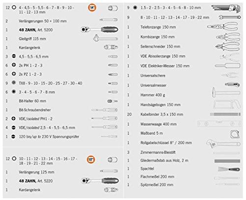 Projahn Elektro Werkzeugkoffer, 128-teilig bestückt - 5