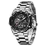 BENYAR Relojes Hombre Cuarzo cronógrafo Impermeable Relojes Business Casual Deporte Reloj de Pulsera...