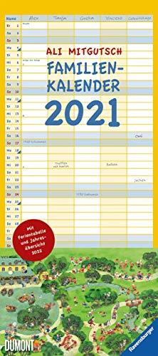 Ali Mitgutsch - Wimmelbilder - Familienplaner 2021 - DuMont-Verlag - Familienkalender für 5 Personen - Wandkalender mit 5 Spalten - 21,5 cm x 48,8 cm - Küchenkalender