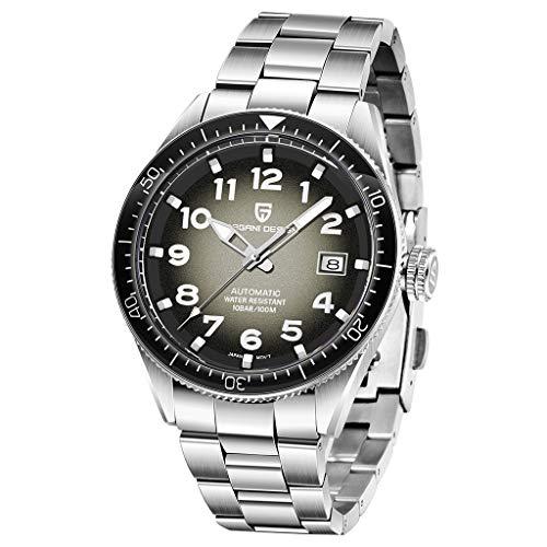 Reloj mecánico de diseño Pagani para hombre, japonés Seiko NH35, movimiento automático, acero inoxidable, resistente al agua, reloj analógico