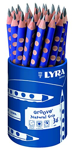 LYRA Groove, Graphite Runddose mit 36, Graphitstiften, Graphit
