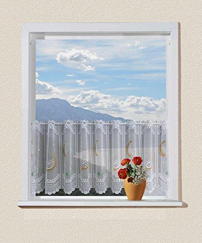 Anna Cortina 8833427PC01 - Tenda Corta, Motivo Paisley 100x250 Arancione/Verde