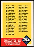 1991 Topps Archives 1953#337 Checklist 281-337 CL NM-MT Baseball