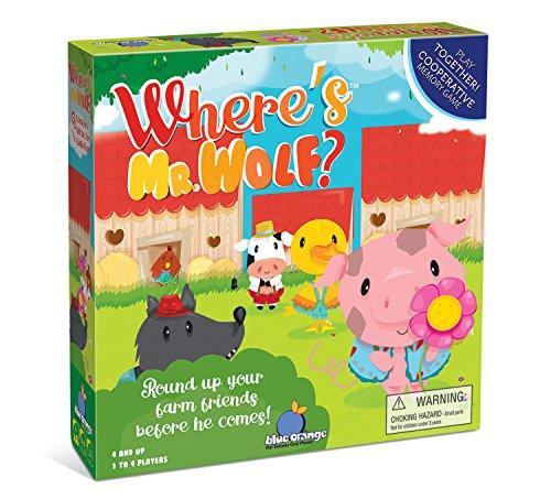 Blue Orange Where's Mr Wolf? Cooperative Kids Game