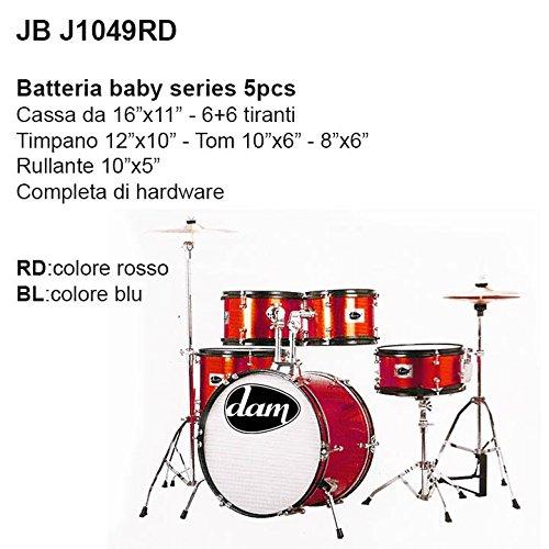 Batteria acustica per bambini 5 pezzi Dam JB J1049