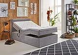 GMD Living Boxspringbett Gabriela LF 120 x 200 cm mit Bettkasten und motorischer Verstellung in...
