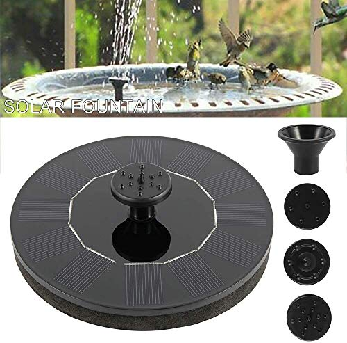 PETAMANIM Solar Power Fountain Pump Water Feature Pool Pump Fountain Garden Pond Decoration