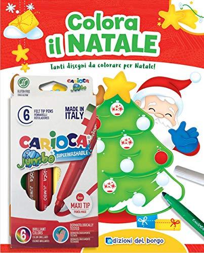 Colora il Natale. Tanti disegni da colorare per Natale! Ediz. a colori. Con 6 pennarelli