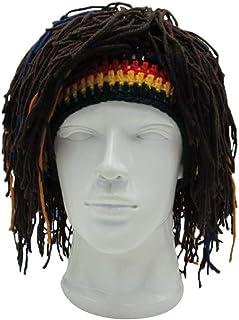 f9eeed84b487e Funny Knit Beanie Hat Rasta Hat with Dreadlocks Handmade Wig Fancy Caps