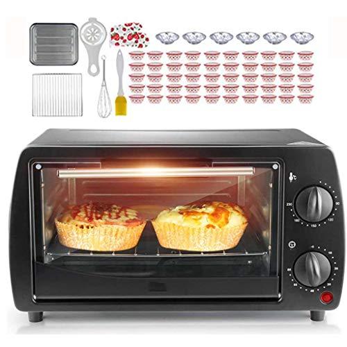 QWSA Mini Cocina de Horno de 9L Parrilla eléctrica de convección rotativa Doble de Doble Capa con Mango Aislado y diseño de disipación de Calor Utilizado para Preparar Pizza