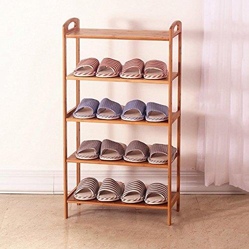 LJHA Chaussure rack économie d'espace simple maison multi-couche chaussure armoire étanche à la poussière économie dortoir solide bois maison Meubles à chaussures (taille : 70CM)