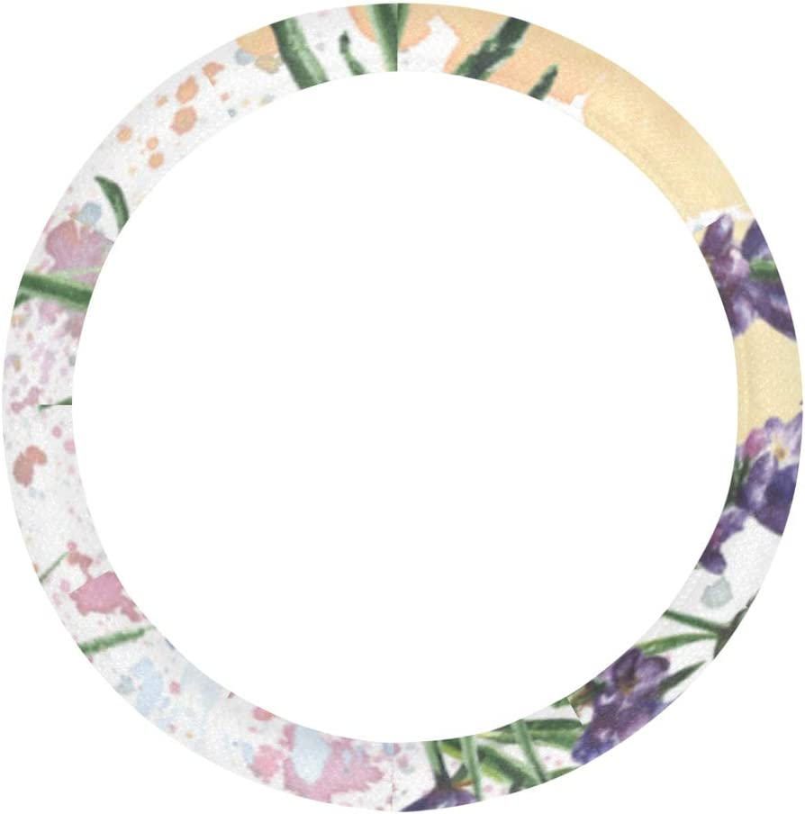 XDCGG Steering Wheel Cover Purple Flow Lavender Botanical Max 78% free OFF Floral