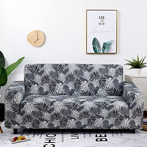 WXQY Fundas con Estampado Floral Funda de sofá elástica elástica Funda de sofá con protección para Mascotas Funda de sofá con Todo Incluido en Forma de L A8 3 plazas