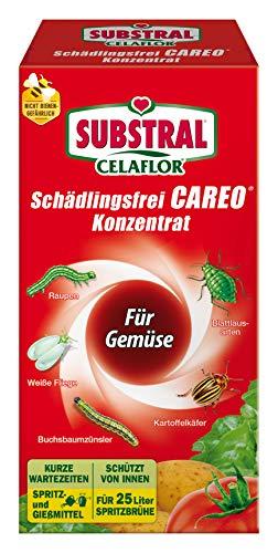 Substral Celaflor Schädlingsfrei Careo Konzentrat Gemüse, gegen Blattläuse, Weiße Fliege, Buchsbaumzünsler, 250ml
