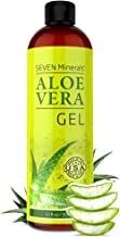 Organic Aloe Vera Gel with 100% Pure Aloe From Freshly Cut Aloe Plant, Not Powder - No Xanthan, So It Absorbs Rapidly With...