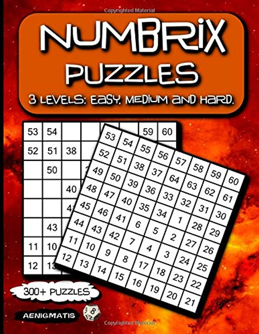 誰マイコン国旗Numbrix Puzzles: 3 Levels: Easy, Medium and Hard.