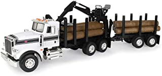 ERTL Big Farm Logging Truck with Pup Trailer & Logs