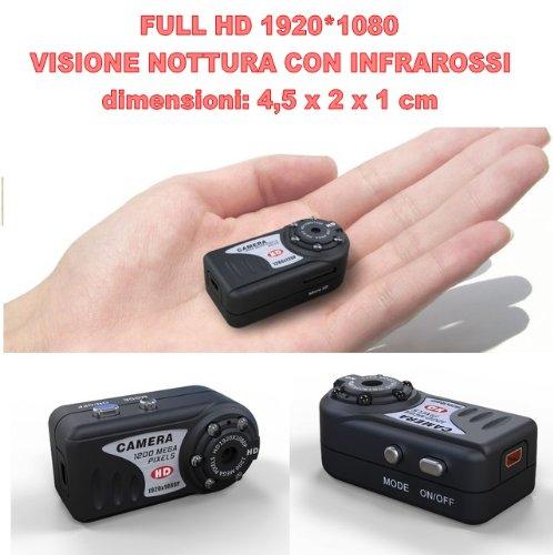 CW46 MINI DV MD80 Full HD 1920 * 1080 MICRO SPY CAM camera nachtzicht 12 MPixelSPIONAGE camera