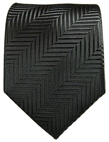 Cravate homme noir ensemble de cravate 3 Pièces (longueur 165cm)
