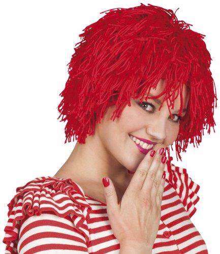 Boland 86204 - Perücke Fuzz, Unisex, Clown, Kobolt, mittellange Zottelmähne, rote Haare, Kostüm, Karneval, Mottoparty