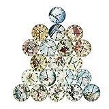 magideal 20Stück Uhr Design Glas Cabochons Kuppel Cameo Flatback Scrapbooking Verzierungen Decor...