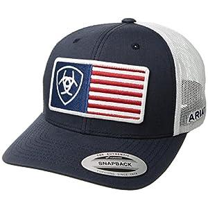 ARIAT Men's Flag Patch Snapback Cap