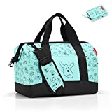 reisenthel Kids Reisetasche Allrounder M Kids +Geldbörse Wallet Kids (Cat´s & Dog´s Mint)