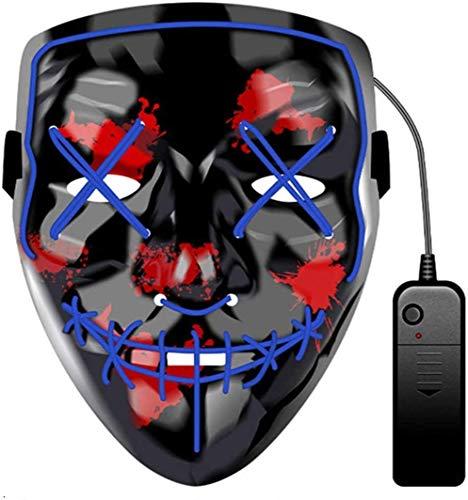 JCT Halloween LED Máscaras Purga Grimace Mask Horror Mask Scary LED...