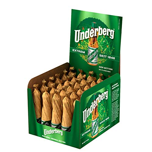 Underberg The Rheinberg Herbal Digestive Licor 30 Bottles Pack, 30 x 20 ml