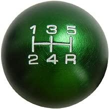 10x1.25mm Thread 5 speed Round Ball Type-R Shift Knob in Green Billet Aluminum for Mazda 3 Miata MX3 MX5 MX6 Eunos Protégé 5 323 626 Mazdaspeed JDM