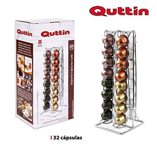 Dream Hogar Soporte capsulas portacapsulas Cafe nespresso Metal Cromado 32 capsulas 10,5x30 cm