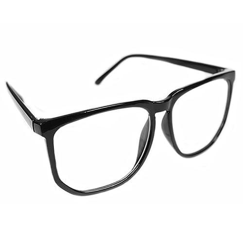 87d7306df Unisex Men Women Fashion Oversized Retro Tortoise Shell Clear Lens Plain  Glasses