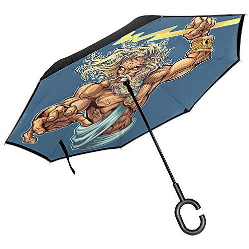 Zeus Bouten Omgekeerde Paraplu voor Auto Omgekeerde vouwen Ondersteboven C Vormige Handen Lichtgewicht Winddicht Ideaal geschenk