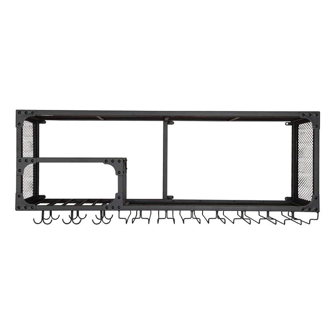 にもかかわらず事業内容役員LY バーワインラック壁掛けシンプルハンギングワインラックワインキャビネット壁掛けカップラックバー逆さま、長さ120 cm x幅30 cm x高さ45 cm