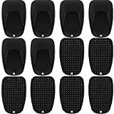 12 Pieces Motorcycle Kickstand Pad Black Bike Kickstand Plate Motorcycle Stand Plate Motorcycle Foot Support Stand Motorcycle Bike Parking Pad for Snow Slippery Road Hot Pavement Grass Sand