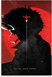 Hitecera Classic Anime Posters Cowboy Bebop Poster Decorative Painting Canvas Wall Art Living Room Posters Bedroom Paintin...