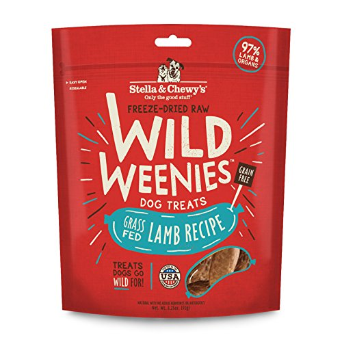 Stella & Chewy's Freeze-Dried Raw Lamb Wild Weenies Dog Treats, 3.25 oz Bag