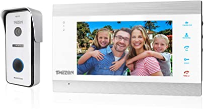 TMEZON 7 Inch Video Door Phone IP Doorbell Intercom Entry System with 1x1080P AHD Wired Camera Night Vision,Support Automa...