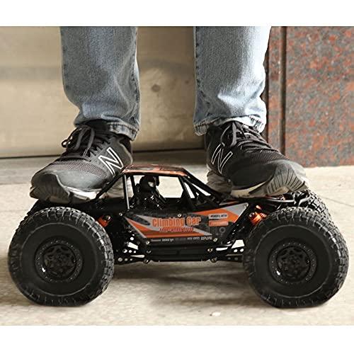 CUIGANGZ 1/10 Escala de Gran tamaño de Control Remoto de Carretera, 2.4 g eléctrico 4WD Monstruo Bigfoot RC Camión, Todo Terreno 45 ° Escalada RC Vehículo, RC Juguete de Coche for niños y Adultos.