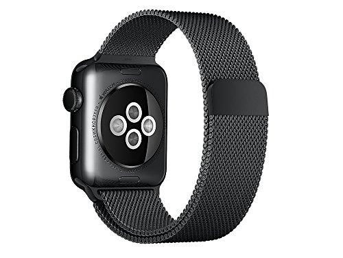 Apple Watch Milanaise Armband, 38 mm Gehäuse, Schwarz