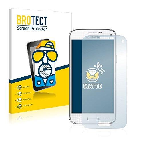 BROTECT 2X Entspiegelungs-Schutzfolie kompatibel mit Samsung Galaxy S5 Mini Displayschutz-Folie Matt, Anti-Reflex, Anti-Fingerprint