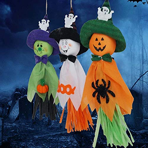 3 PCSハロウィーンハンギングゴーストペンダント、パンプキンハロウィン装飾、ランダムな色配達 zhangpopoqiye