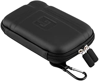 1CAwindwinevine PU Hard Carry Case Cover Bag Pouch Large Hard Carry Case Cover 5 inch in Car Sat Nav Holder for GPS Classic