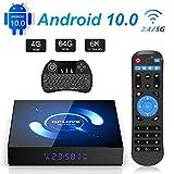 Android TV Box, QPLOVE Q6 Android TV Box [4GB 64GB] H616 Quad Core Cortex A53 Supporto 3D 6K 2.4G/5G Dual WiFi BT 5.0 LAN 100M H.265 Smart TV Box con Wireless Mini Tastiera