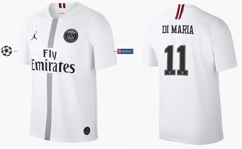 PSG Trikot Herren 2018-2019 Third Weiß UCL - Di Maria 11
